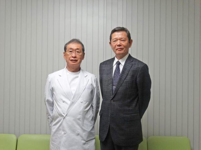 三橋正忠院長と、田中清人顧問税理士