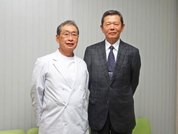三橋眼科医院 三橋正忠院長と、田中清人顧問税理士