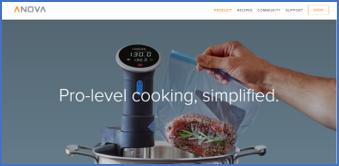 Kickstarterから生まれたプロダクトの代表的存在、IoT低温調理デバイス「anova」は、同様の調理器と比較すると驚異的な安価。